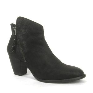 Steve Madden Whysper Boots Black Leather Booties